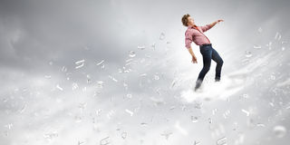 Man on cloud Stock Images