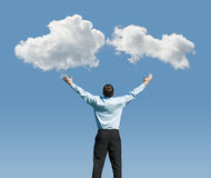 Man and clouds Royalty Free Stock Photo