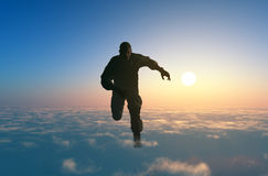 The Man in the clouds. Stock Image