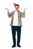 Man with clown nose Royalty Free Stock Photos