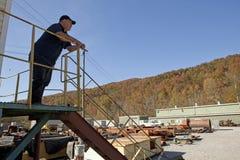 Man at coal mine, Appalachia Stock Image