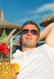 Man with cocktail. Stock Photography