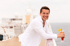 Man cocktail cruise Royalty Free Stock Image