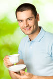 Man with coffee Stock Photography