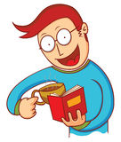 Man with coffee and book Stock Photo