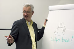 Man and coffee break sign Royalty Free Stock Image