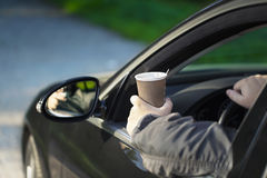Man with coffee Stock Images