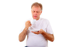 Man with a coffee cup Stock Photos