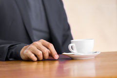 Man and coffee Stock Image