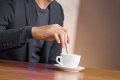 Man and coffee Stock Images