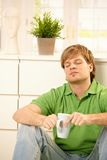 Man with coffee mug Stock Photography
