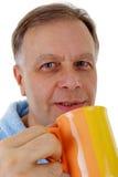 Man with coffee mug Stock Photos