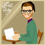 Man In Coffee Shop Stock Image