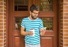 Man with coffee Stock Photo