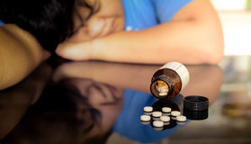 Man collapsed after a overdose Royalty Free Stock Photography