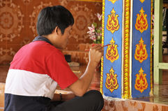 Man Color Art Ancient Asian Paint Stock Photography