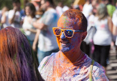 Man in color pigments at  Festival   Holi Royalty Free Stock Image