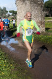 Man in colorful clothes, Marathon of the Epiphany, Rome, Italy Royalty Free Stock Photography