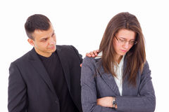 Man comforting woman Stock Photos