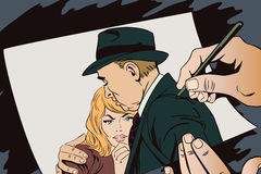 A man comforts beautiful young girl. Royalty Free Stock Photos