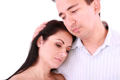 Man comforts woman. Stock Image