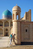 A man coming out of the mosque royalty free stock photos