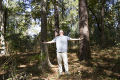 Man communing with nature Stock Photography