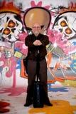 Man commuter, urban graffiti royalty free stock photography
