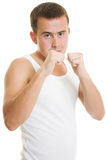 A man compresses his fists Stock Image