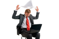 The man with the computer Royalty Free Stock Photography
