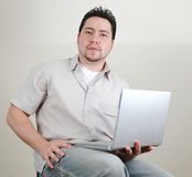 Man and computer-6 Stock Image