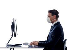 Man computer anti virus concept Royalty Free Stock Images