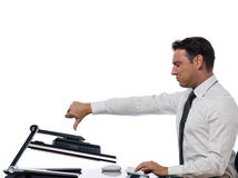 Man computing computer conflict bug concept Stock Photography