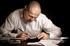 Man Paying Bills Stock Image