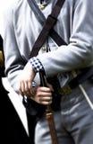 Man in confederate uniform. Close up of man in confederate uniform Royalty Free Stock Photos