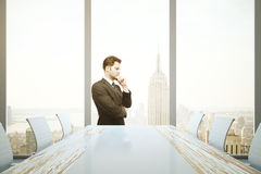 Man in conference room Stock Photo
