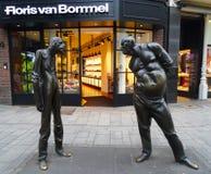 Man confrontation sculpture auseinandersetzung , Dusseldorf royalty free stock photography