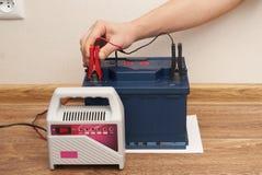 Car battery service stock photography