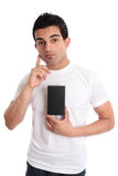Man considering a product Stock Photography