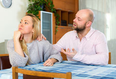 Man consoling woman Royalty Free Stock Images