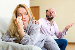 Man consoling woman Royalty Free Stock Photo