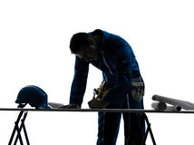 Man construction  Architect silhouette Stock Photos