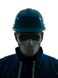 Man construction protective workwear silhouette portrait Stock Image