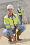 Man in construction site royalty free stock images