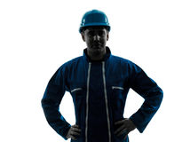 Man construction worker smiling friendly Royalty Free Stock Photos