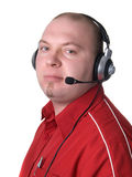 Man - consultant with headset Royalty Free Stock Images