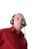 Man - consultant with headset Royalty Free Stock Photos