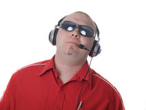 Man - consultant with headset Stock Photos
