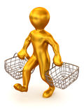 Man with consumer basket Stock Photography