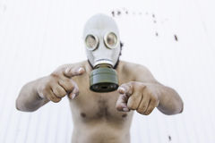 Man contaminated virus Royalty Free Stock Photo